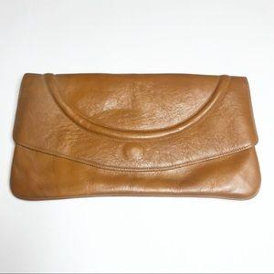 COPY - Vintage Brown Leather Clutch Bag